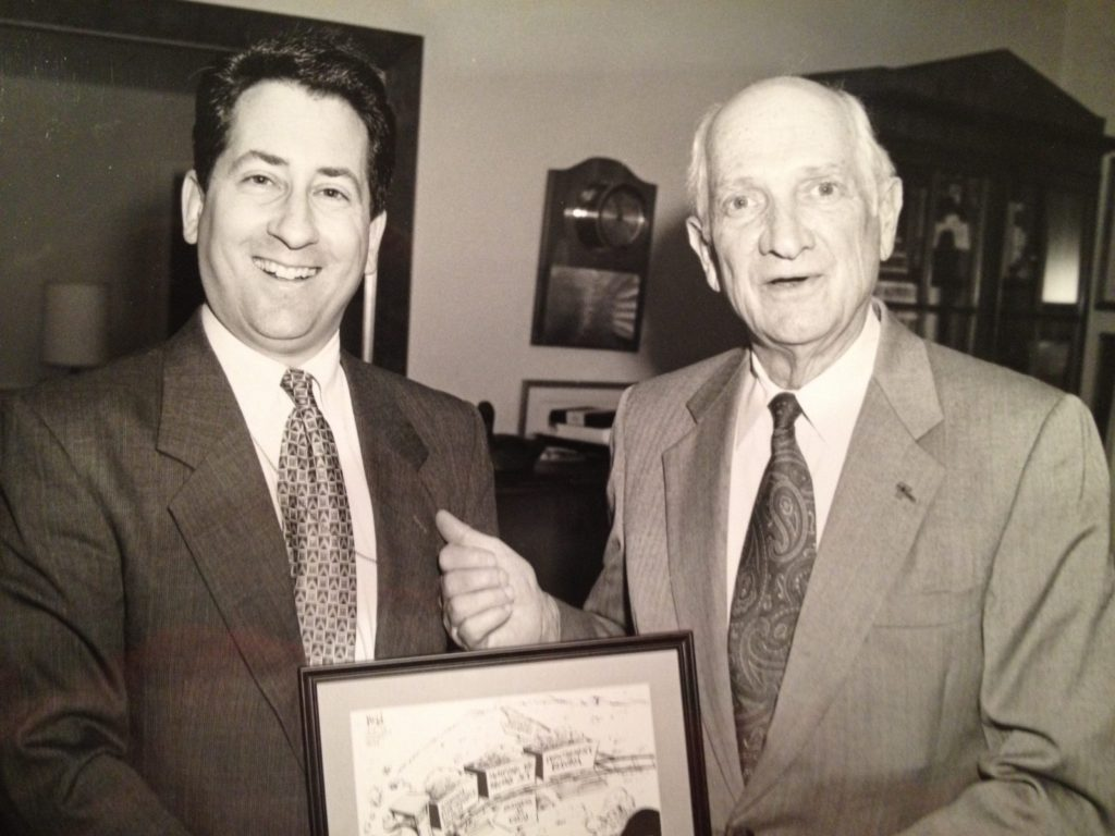 A while ago with congressional legend Jack Brooks.